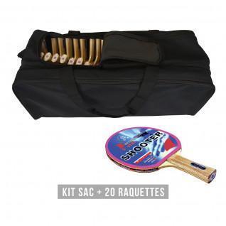 Racketset (tas + 20 rackets) Sporti France Shooter