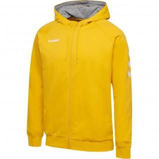 Hooded Zip Up Sweatshirt Hummel hmlgo katoen