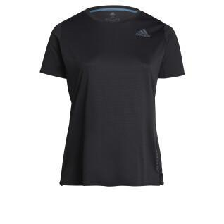 Dames-T-shirt adidas Heat.Rdy (Grandes tailles)