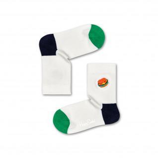 Happy Socks Hamburger borduurwerk