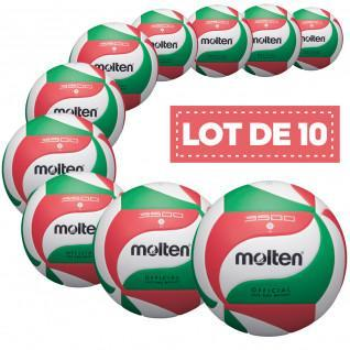 Set van 10 trainingsballen gesmolten V5M3500