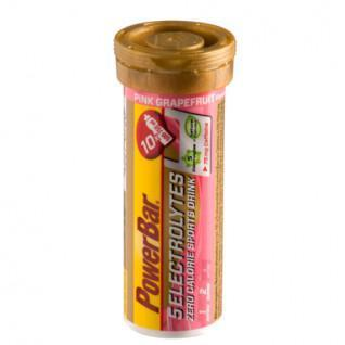 PowerBar Elektrolyten 5 tabletten - Roze Grapefruitcafeïne (12X10 tabbladen)